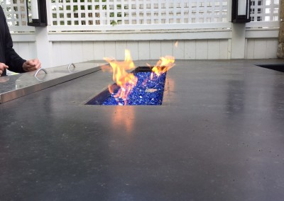 Linear Fire Feature In Bar